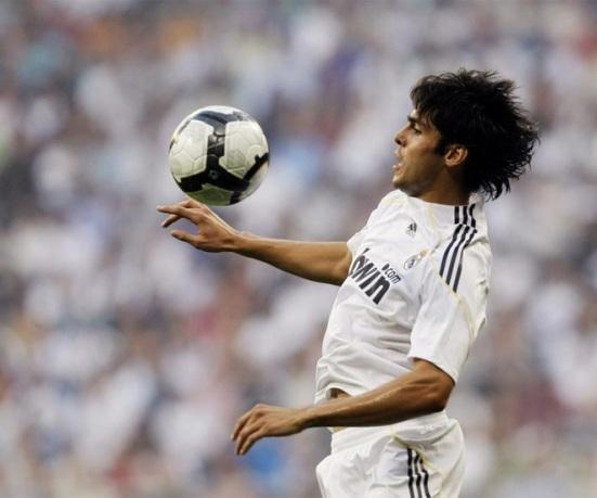 Kaká durante el Real Madrid - Deportivo