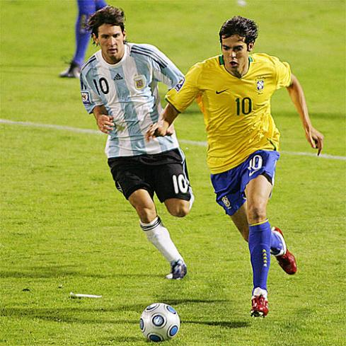 Kaká en el partido de Rosario