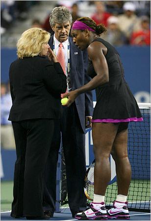 Serena explica su versión de los hechos