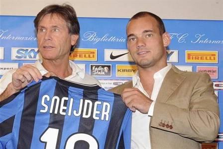 Orali presenta a Sneijder en San Siro