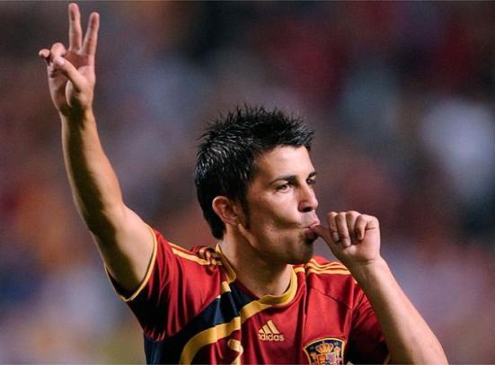 Villa le dedica el 1º gol a su segunda hija