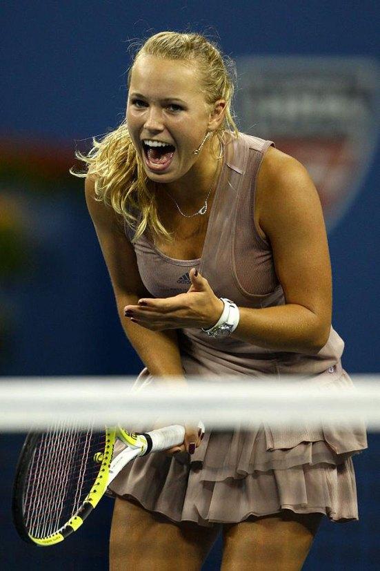 Wozniacki tras su victoria frente a Kuznetsova